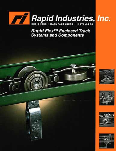 Rapid flex enclosed track systems and components guide cover