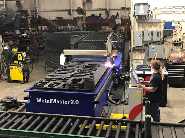 man working in a steel factory